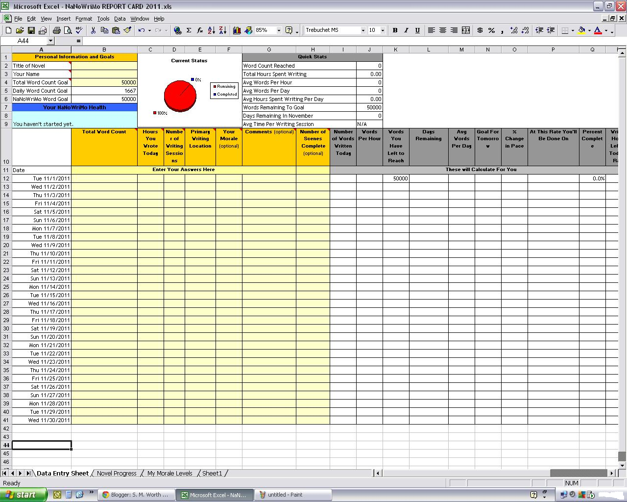 Report Card Excel Template