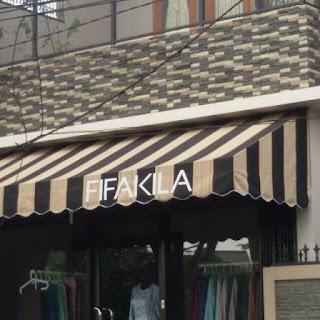 contoh kanopy kain untuk cafe