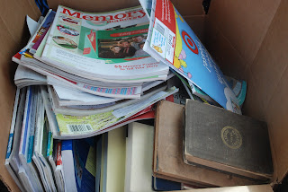 Box of magazines