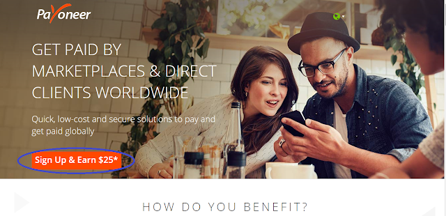 create a payoneer account