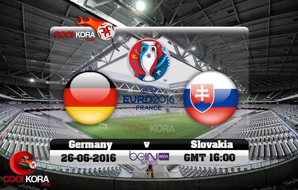 مشاهدة مباراة ألمانيا وسلوفاكيا اليوم 26-6-2016 بي أن ماكس يورو 2016