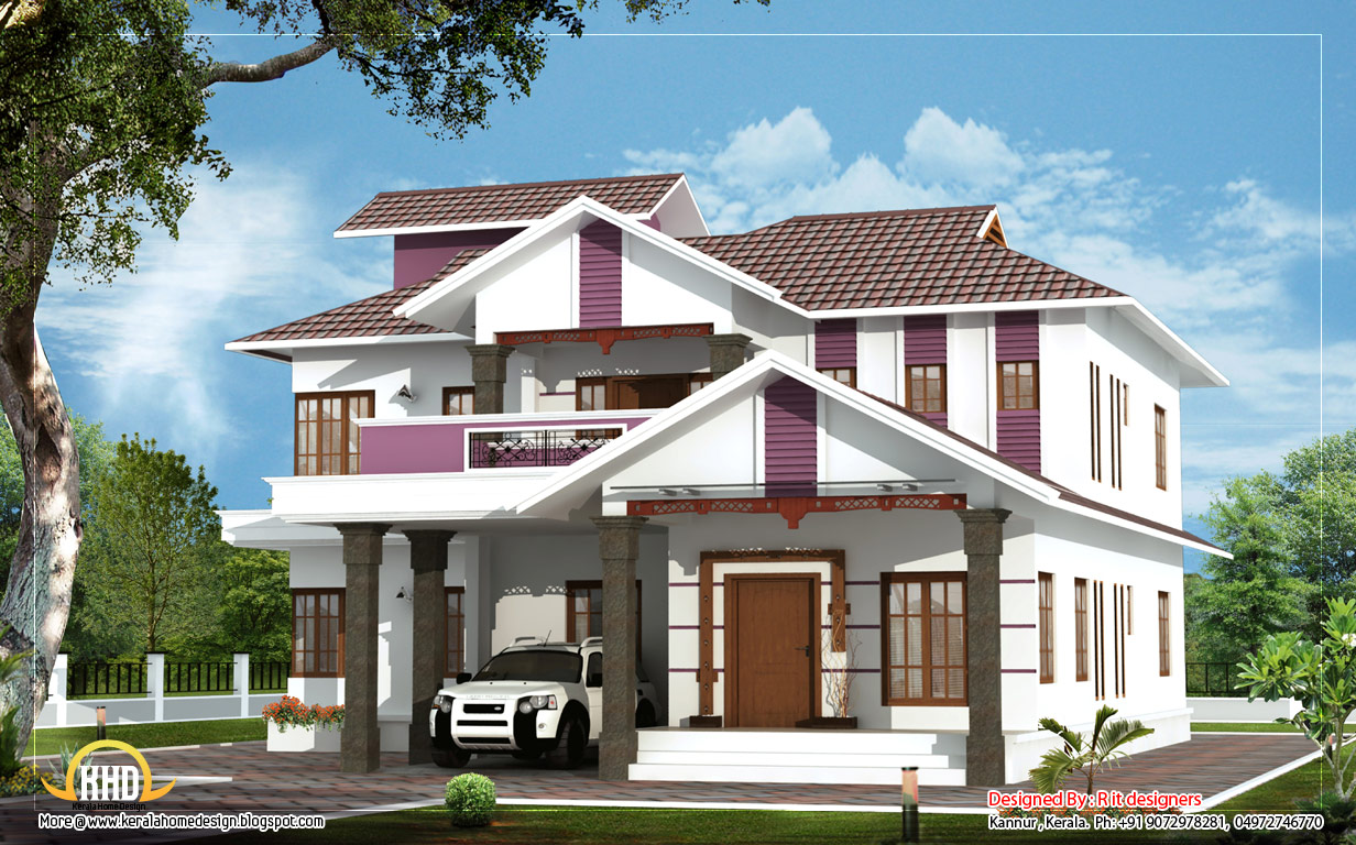 Beautiful duplex house 2404 sq ft kerala home design for Duplex houseplans