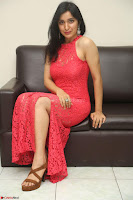 Sakshi Kakkar in Red Legsplit Sleeveless Gown at Dare movie Press meet ~  Exclusive 023.JPG