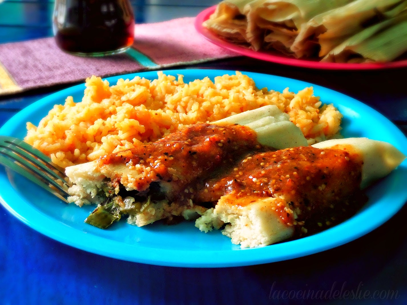 How to make Tamales de Rajas from scratch - lacocinadeleslie.com