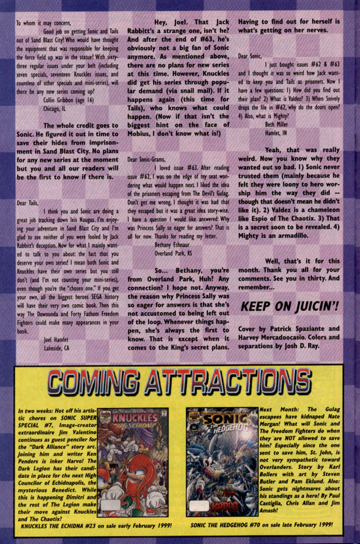 Read online Sonic The Hedgehog comic -  Issue #69 - 24