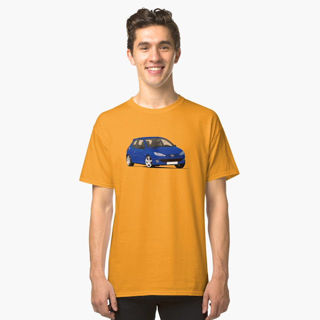 Peugeot 206 RC t-shirts