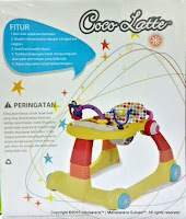 Baby Walker Cocolatte CL-1100 ML 2 IN 1 Walker dan Walk Behin