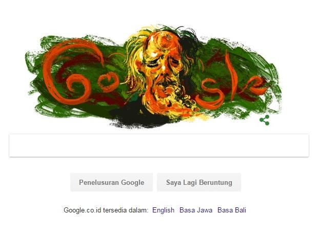 Pelukis Affandi Muncul di Google Doodle