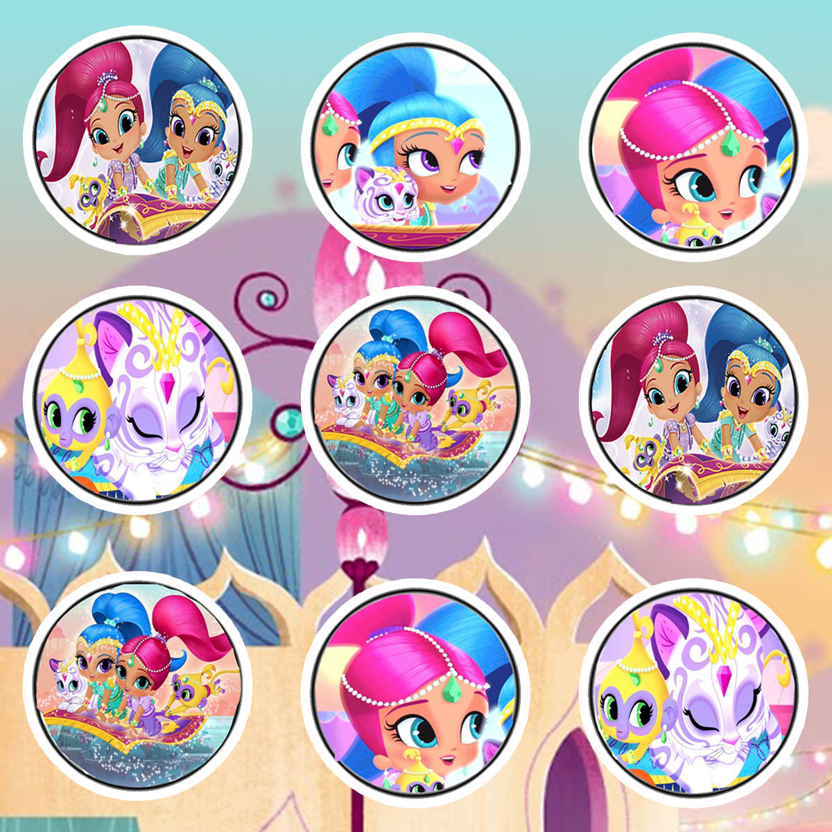 Daisy Celebrates Shimmer And Shine Birthday Party Printable Files