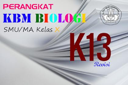 Download Perangkat KBM Biologi SMA/MA K-13 Revisi