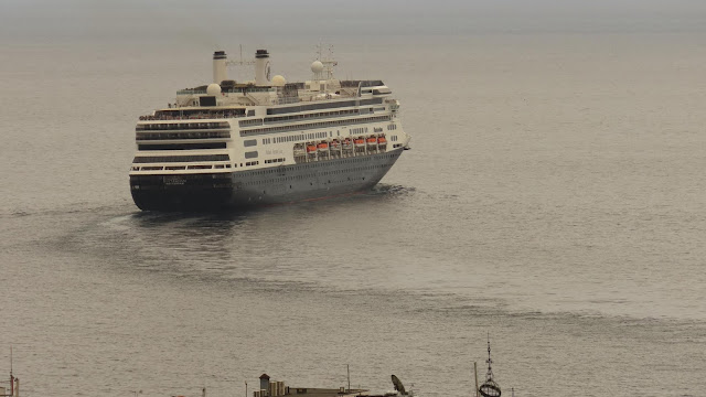 the Rotterdam cruise ship leaves Funchal harbor