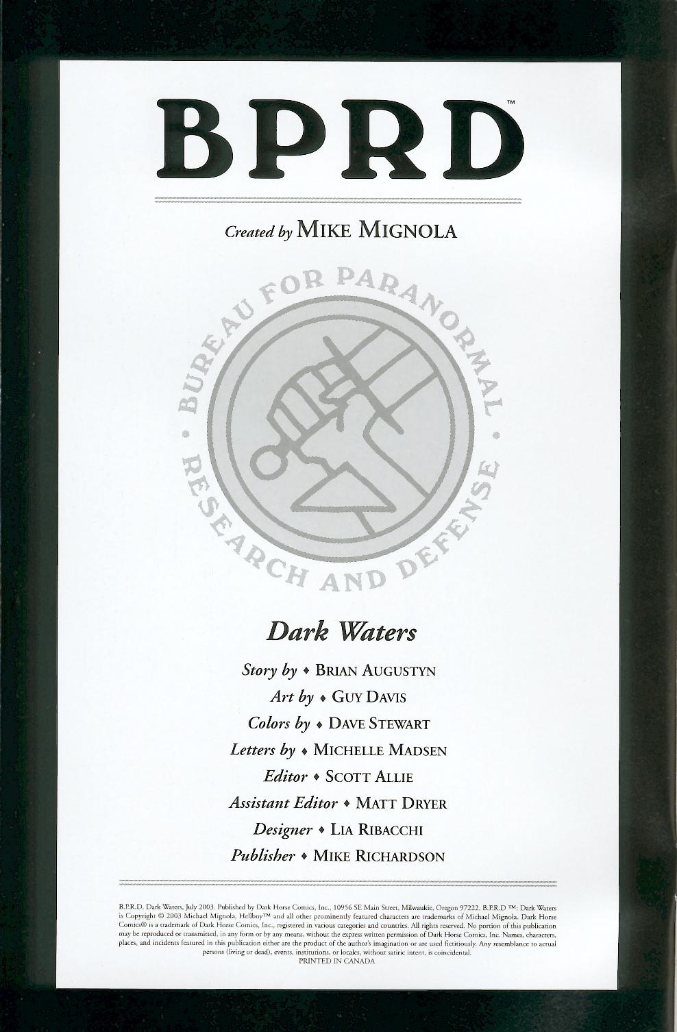 B.P.R.D.: Dark Waters Full Page 2