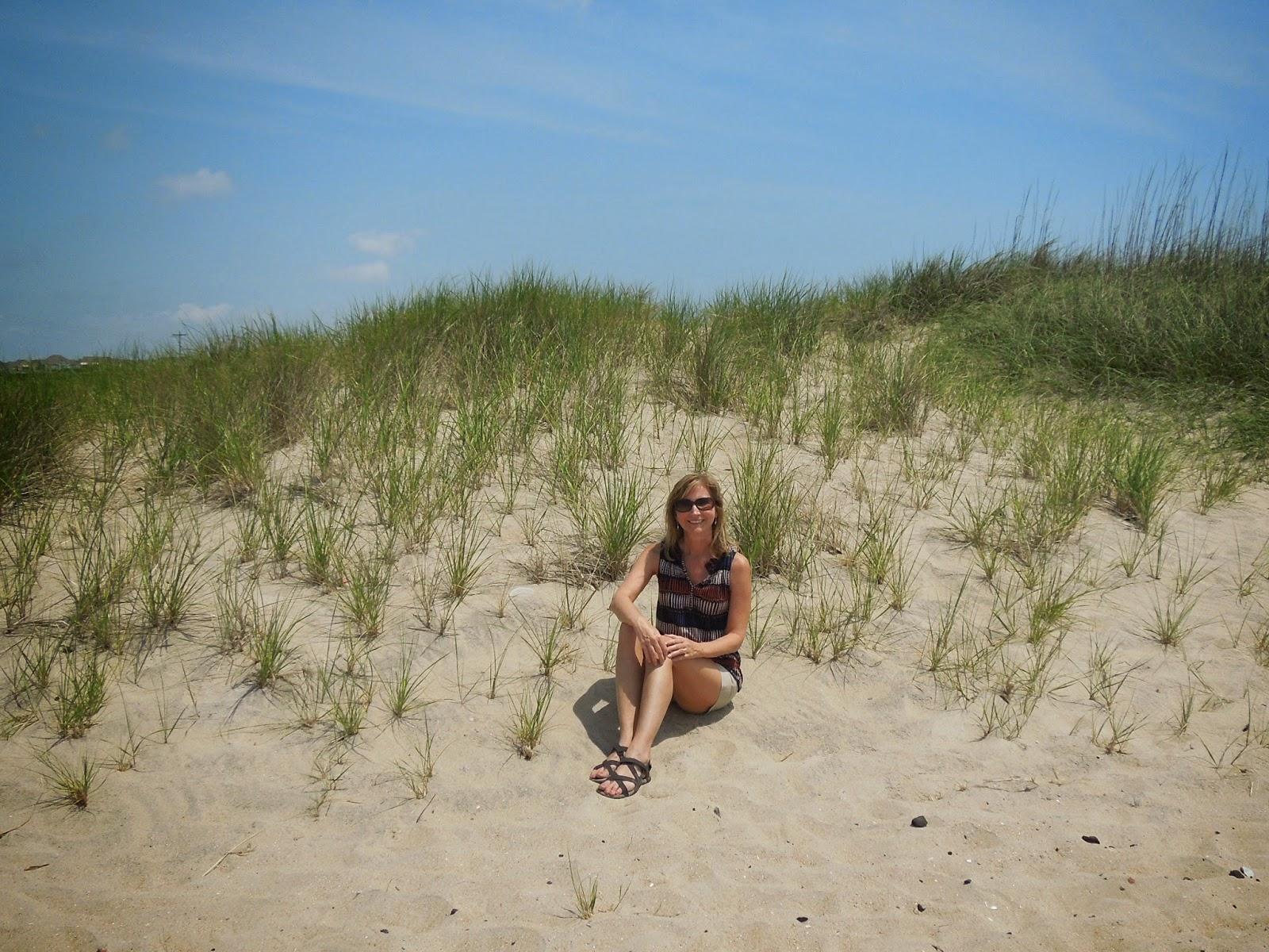 Susan on dunes