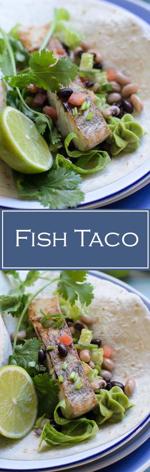 Summer meal of  fish taco