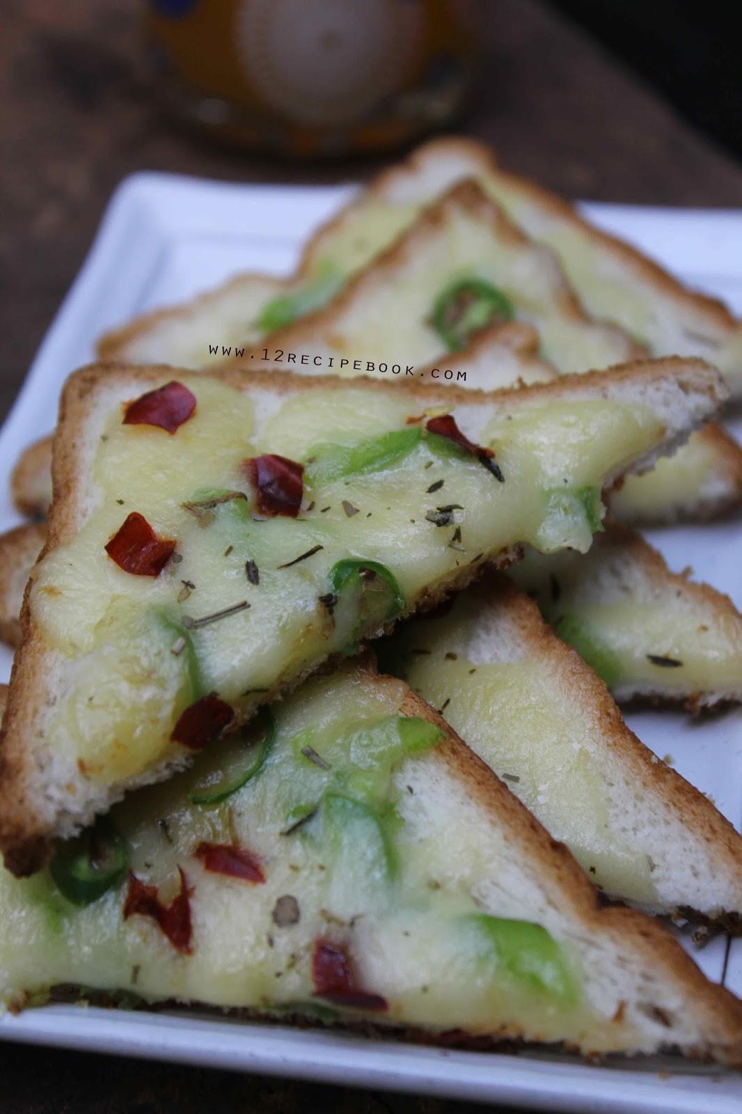 Chilli Cheese Toast - Recipe Book