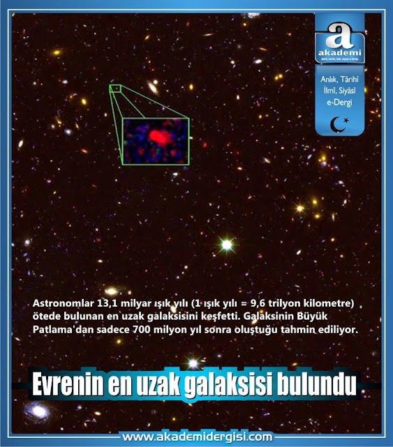 Evrenin en uzak galaksisi bulundu