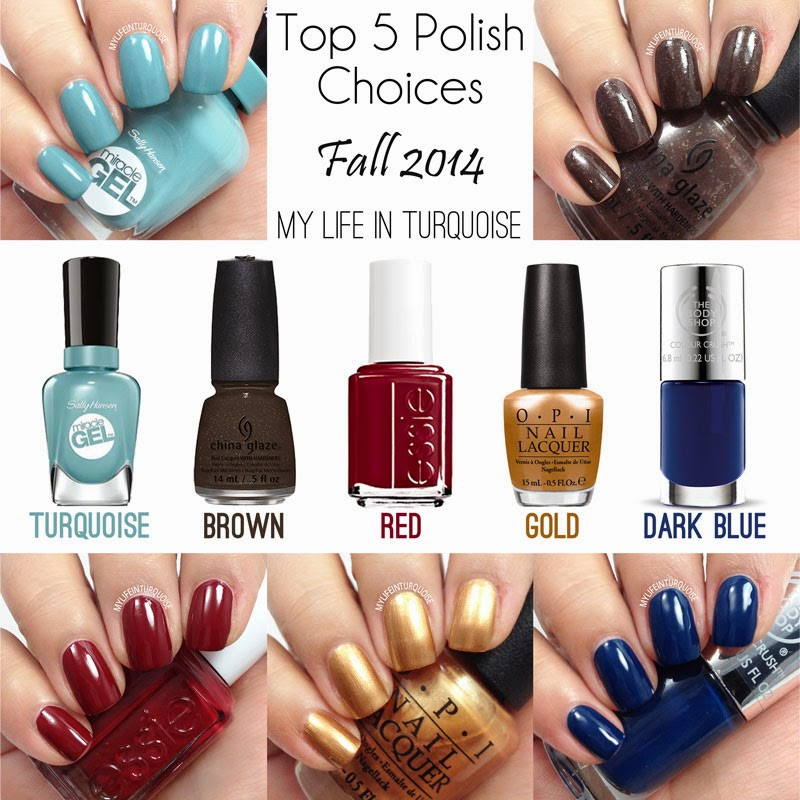 Top 5 Polish Choices Fall 2014