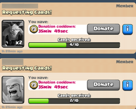 Clash Royale Coins hacks, Donate card