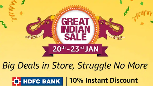 Amazon Great Indian Sale starts from 20 January 2019