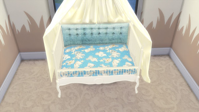 "Sims 4 Custom Content Download:I'm currently working on The Sims 4 cc (custom content) nursery furniture set and I decided to share it in parts as I'm assuming the whole set will take another month or two to finish.So,I'm sharing today the part-1 of my Sims 4 Sweet Dreams Nursery Furniture Set.This part includes total 6 items-baby crib,crib curtain,baby quilt and three types of pillows.This crib can be also used as a twin baby crib.This set is meant to be used with the ""Baby without Crib Mod""."