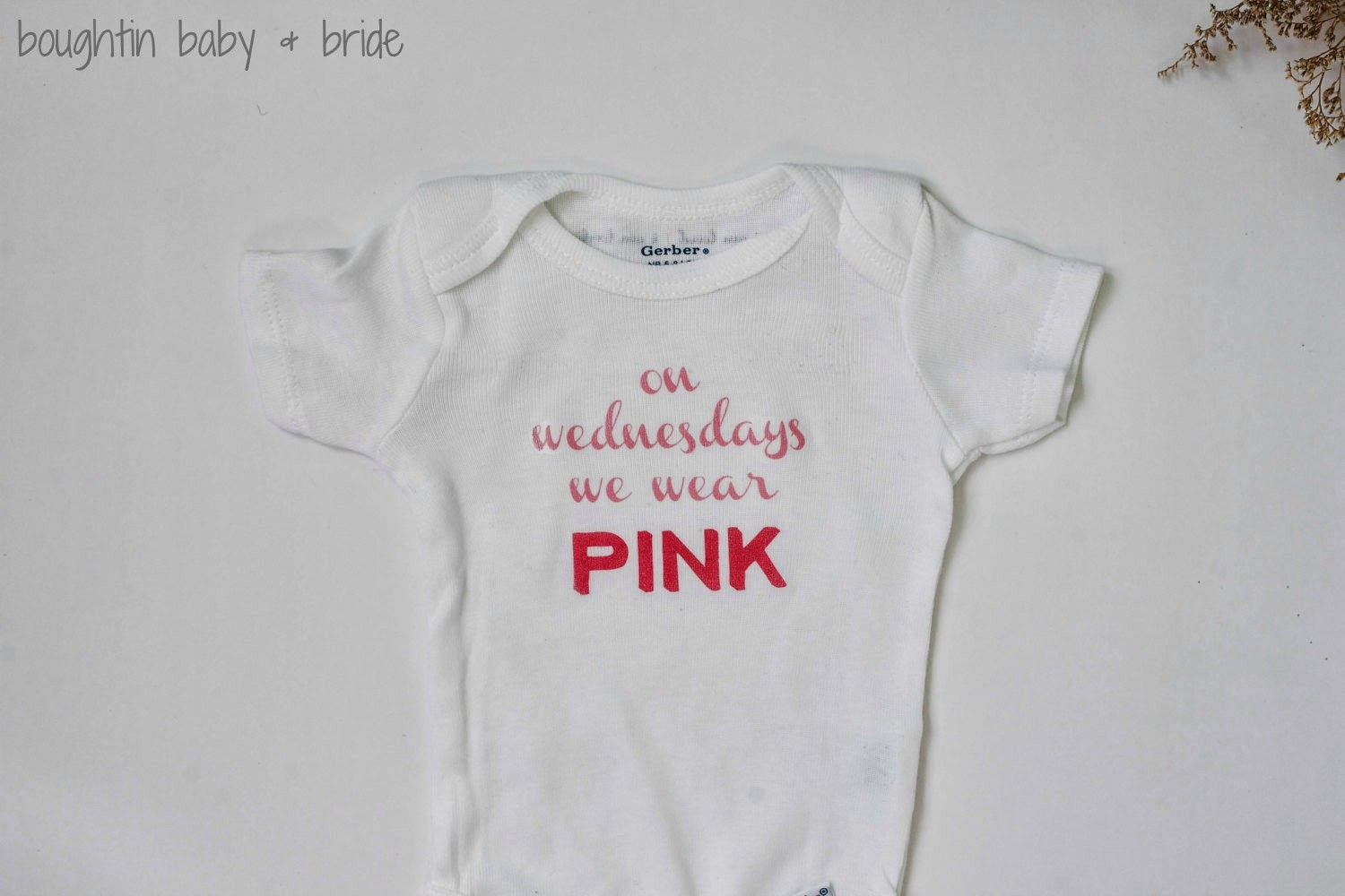 42ca3727 I mean, come on, a Mean Girls reference on a onesie? Brilliant + Adorable. I  was so excited when Cady wanted me to do a feature post on her shop.