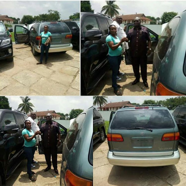 Pregnant commercial bus driver gets a car gift from Gov. Ikpeazu of Abia State