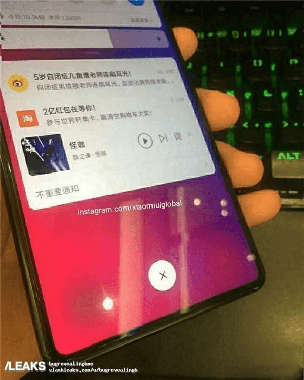 a4a8963fb Xiaomi Mi Mix 3 Live Images Leaked Along with pricing