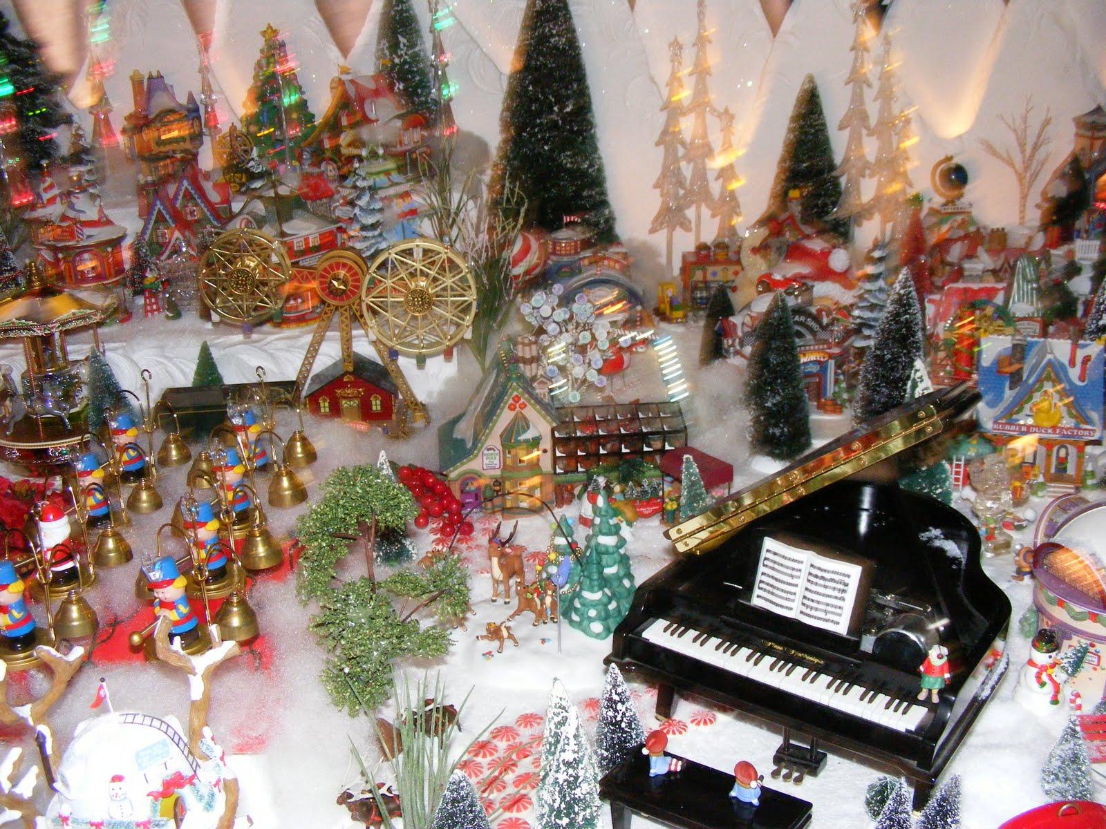 Department 56 Christmas Village Display.Christmas Village Fun Blog Kim Krum S North Pole Village