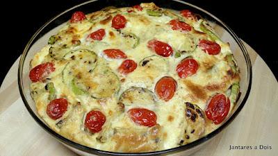 Torta Salgada de Abobrinha e Tomate Cereja