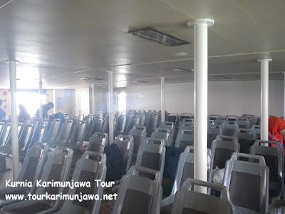 kursi kapal fery jepara karimunjawa