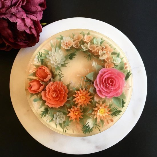 Siew Heng Boon JellyAlchemy bolos de gelatina arte coloridos flores comida
