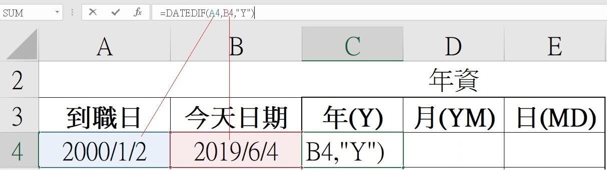 Excel函數-026_datedif-隱藏版