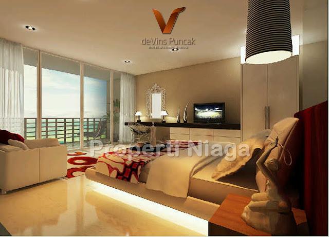 View-Bedroom-Type-B-(37m2)-Devins-Puncak-Hotel-And-Condominium