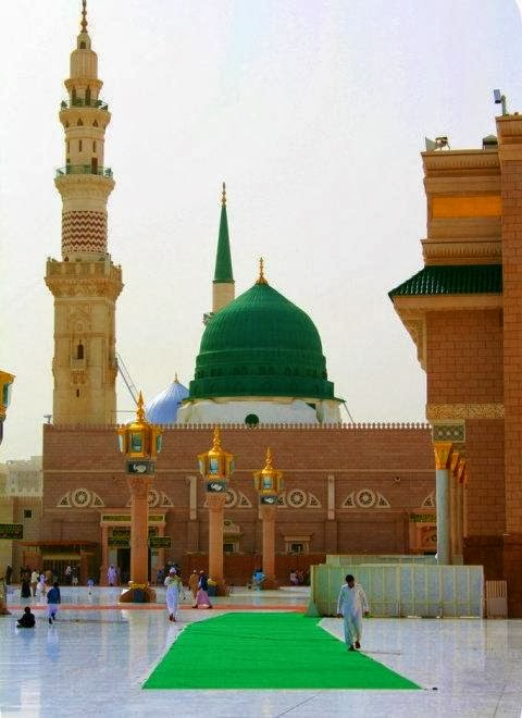 Wallpaper Muslimah Cute Photo Menia 360 Gumbad E Khizra Madina Very Beautifull Pics