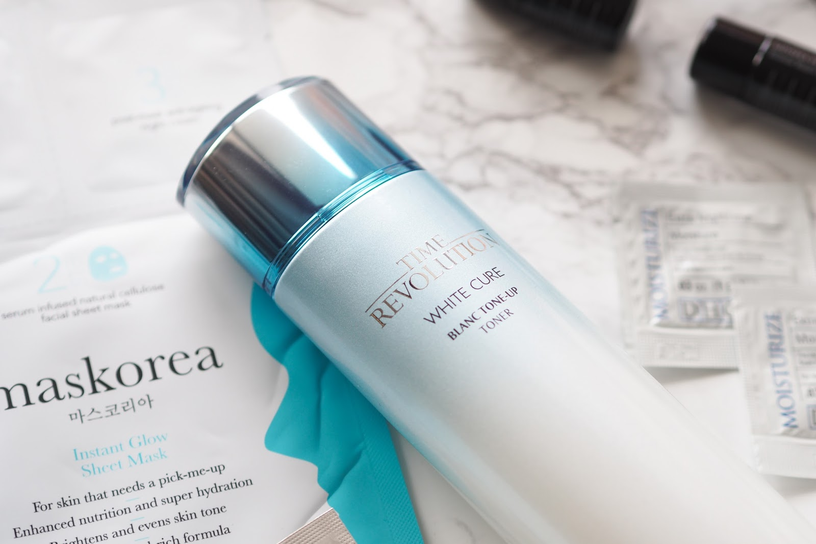 Time Revolution White Cure Blanc Tone-Up Toner - Missha Review