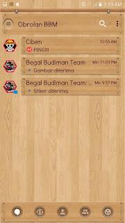BBM MOD Theme WOOD v3.2.0.6 Apk