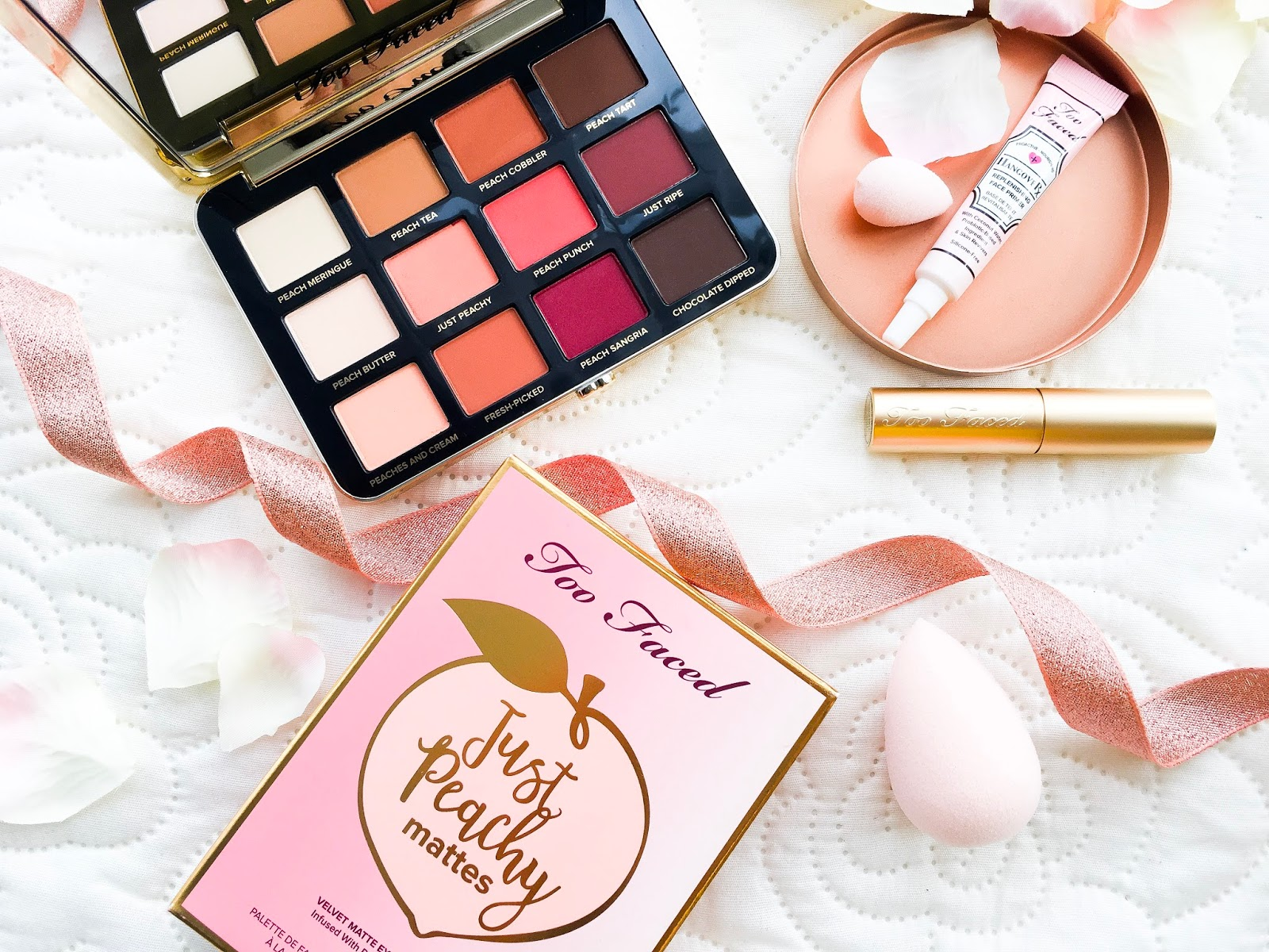 too faced just peachy mattes eyeshadow palette, too faced just peachy mattes review, too faced just peachy mattes uk, too faced just peachy mattes review and swatches