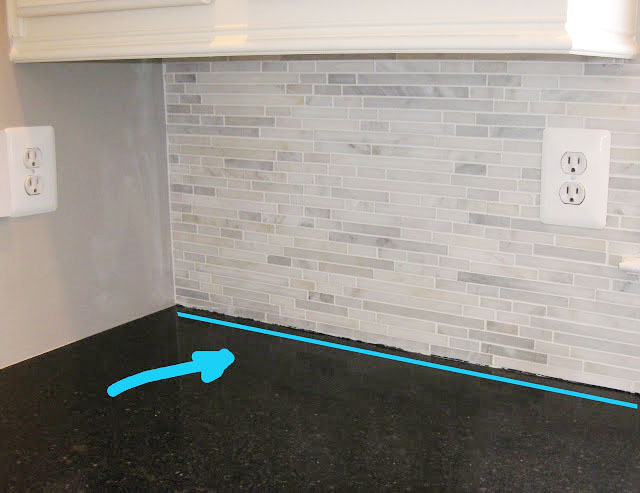 adding a beat of silicone in between counters and backsplash