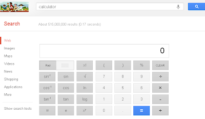 Online Calculator in Google Search