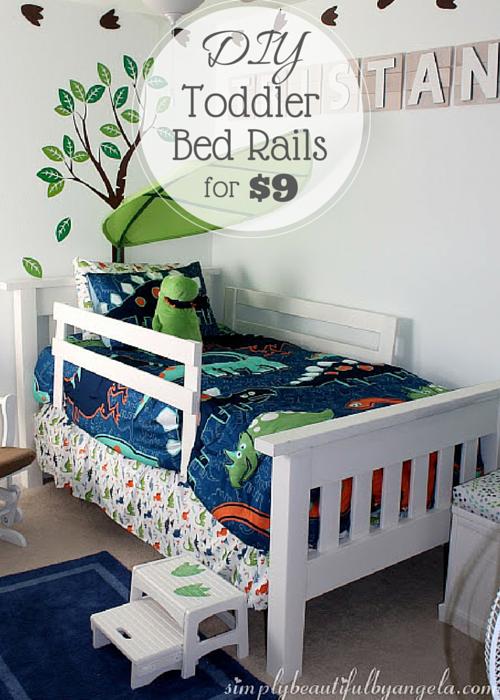 DIY Toddler Bed Rails