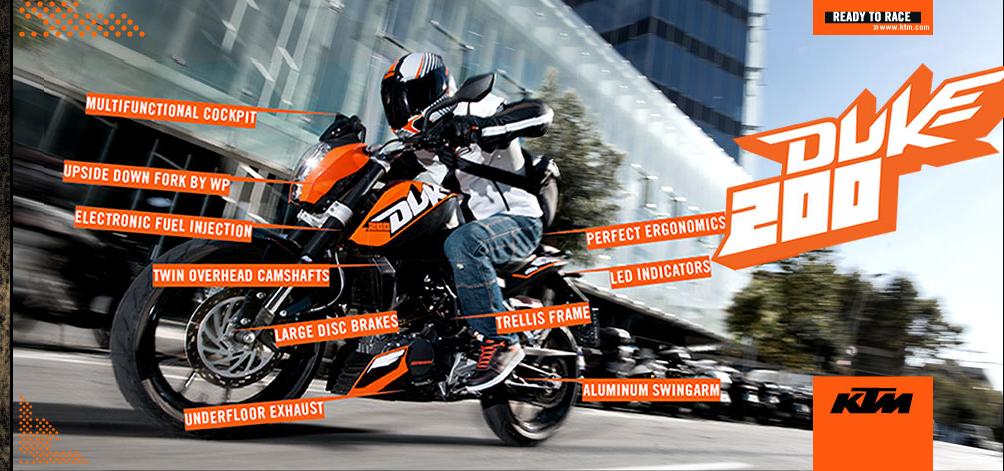Free Test Ride Bajaj KTM Duke 200 - Freebie Giveaway Contest