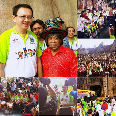 Pesulap Pak Tarno dan Pak Ahok BTP Acara Hari Anak Nasional