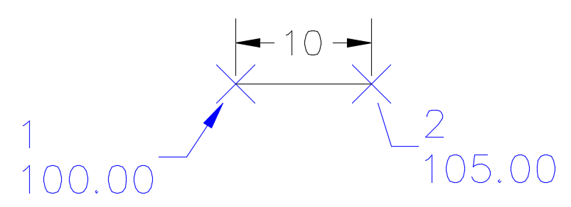 Civil D Draw Line Bearing Distance : Crossing the line with civil d point to inverse in