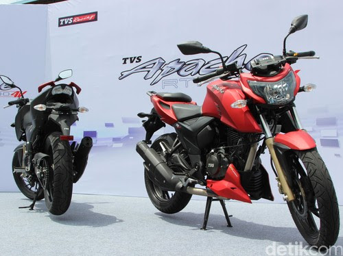 TVS Apache RTR 200 4V Officially Launched at Rp 23.9 Million
