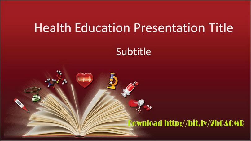 Download free health education ppt for general medical presentation this health powerpoint design templates using a red background color gradation and picture books and some component health education icons such medical toneelgroepblik Choice Image