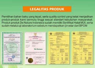 Legalitas Produk De Nature