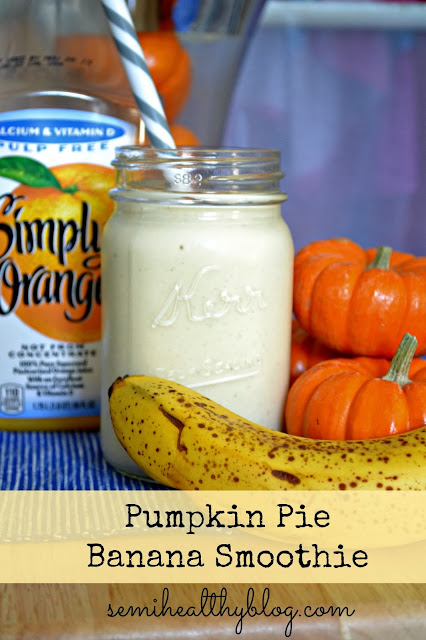pumpkin pie banana smoothie