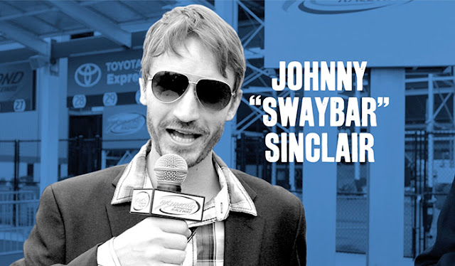 Meet Johnny Swaybar Sinclair, one of our Race Weekend TV reporters