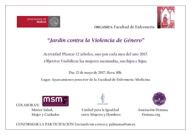 """Inauguración del """"Jardín contra la Violencia de Género""""."""