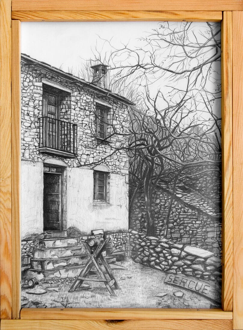13-Casa-de-Sercué-Daniel-Formigo-Pencil-Urban-Architectural-Drawings-www-designstack-co